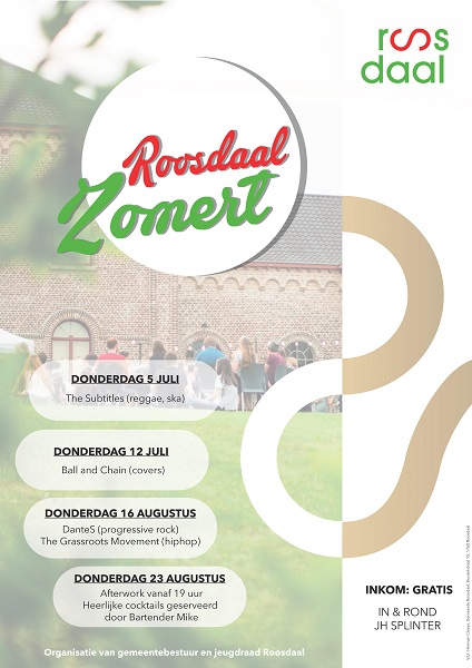 Affiche Roosdaal Zomert 2018